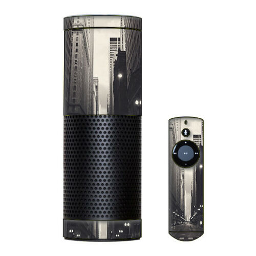 City Street Skin Decal Vinyl Wrap for Amazon Echo Device