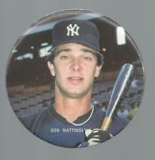 Don Mattingly 1980's 3 inch Photo Button/Pin New York Yankees