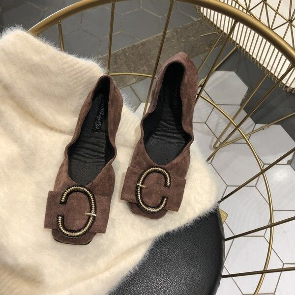 Ballerine mocassini eleganti marron strass pelle sintetica comode 1653