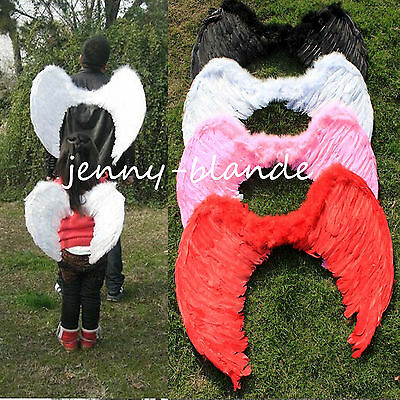Feather Fairy Swan Angel Wings Hen Night Party Fancy Dress Halloween Costume
