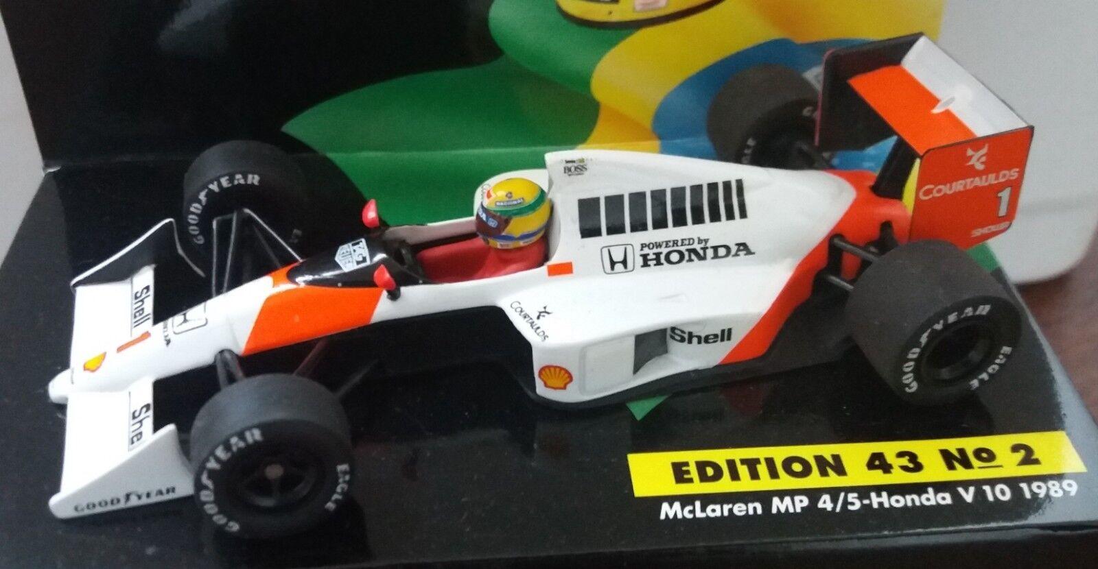 Envíos y devoluciones gratis. McLaren Honda MP4 5 V10  1989 A.Senna    Edition 43 n°2  Minichamps 1 43  Entrega gratuita y rápida disponible.