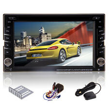 Camera+GPS Navigation Double 2DIN Car Stereo DVD Player Bluetooth iPod MP3 TV SD