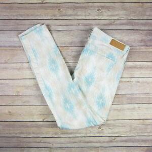 BIG-STAR-Women-039-s-Alex-Skinny-Pants-SIZE-29-Ivory-amp-Blue-amp-Pink