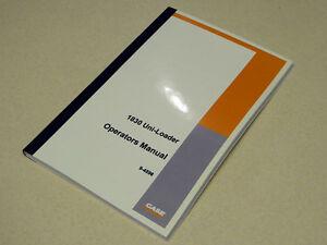 CASE 1830 SKID STEER UNI LOADER OPERATORS OPERATION MAINTENANCE MANUAL
