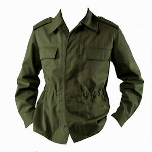 fec37a4744e Image is loading NEW-Vintage-Genuine-Army-Jacket-Olive-Green-Czech-