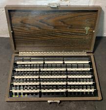 Starrett Webber Croblox 92 Piece Gage Block Set Complete 050 400 Used Steel
