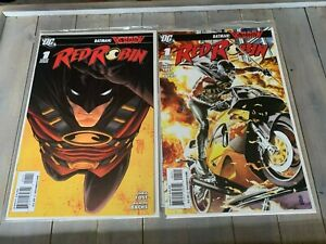 Red-Robin-1-Variant-DC-JG-Jones-1-25-NM-2-Comic-Lot-1st-Print-DC-Comics-KEY