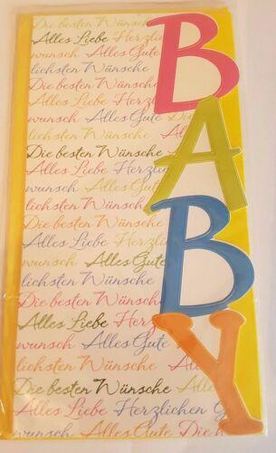 02 Junge Mädchen Glückwunschkarten Geburt Baby Kind Glückwunsch Grußkarte NEU 02