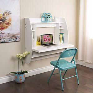 Floating Vanity Table Make Up Furniture Dressing Makeup Wall Mount Desk White