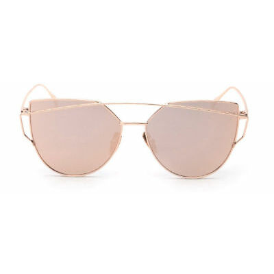 Fashion Women Cat Eye Sunglasses Classic Brand Designer Twin-Beams Sunglasses