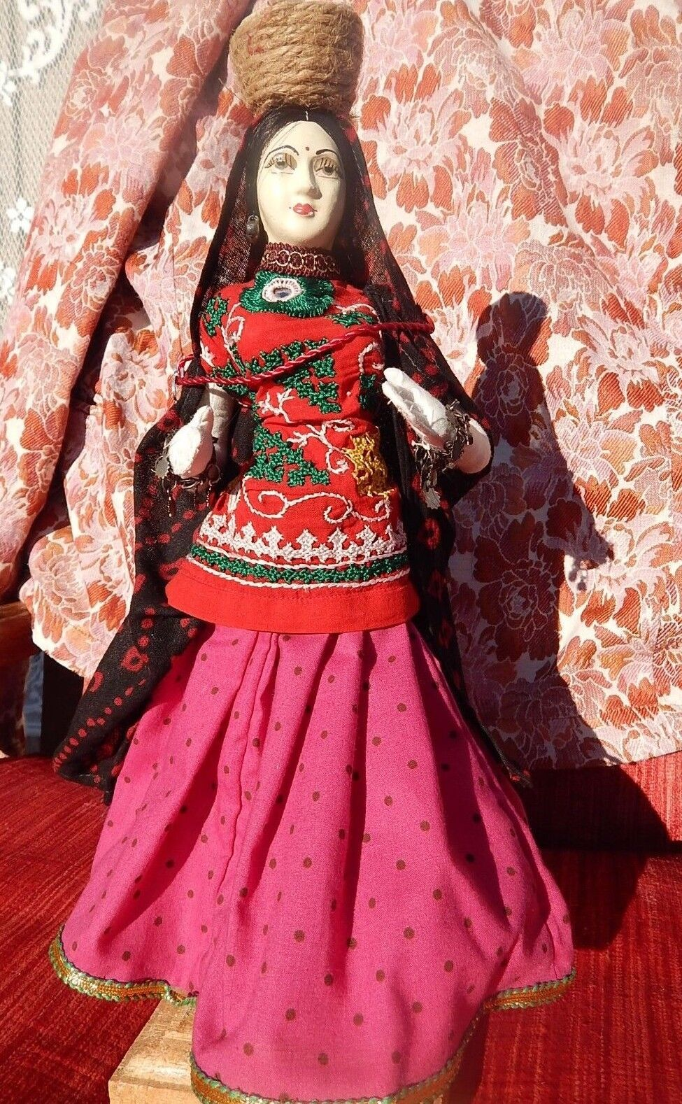 Banjara Gypsy Cloth Doll Suzani outfit embroiderosso Ethnic Tribal Doll