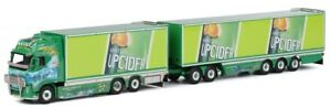 Wsi01-1023 - Camion Porteur 6x2 Volvo Fh02 Globetrotter Avec Remorque Dolly Au