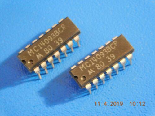 Motorola MC14093BCP Quad 2-Input NAND Qty = 2 14PIN disparador de schmitt