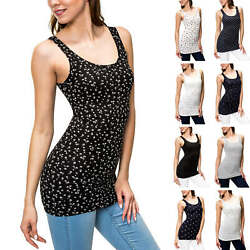 Only Damen Tank Top Basic Shirt Stretch O-Neck Print Damenshirt T-Shirt SALE %