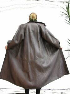 Women-L-XL-LAMBSKIN-SHEEPSKIN-SHEARLING-Lammfell-FUR-Coat-Leather-Ladies-RR23
