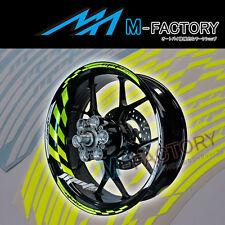"""For Suzuki Motorcycle #GP1 Yellow Fluorescent 17"""" Wheel Sticker Rim Decals"""