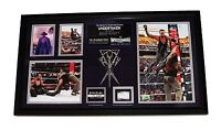 WWE THE UNDERTAKER WRESTLEMANIA 31 HAND SIGNED AUTOGRAPHED FRAMED PLAQUE W/ COA