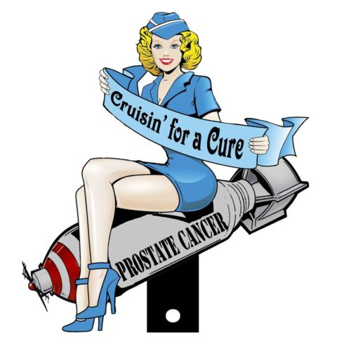 Cruisin/' For A Cure Bomber Girl on Bomb License Plate Topper