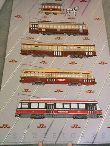 "Very Scarce TTC Toronto Transit History of Trolley & Streetcar 18 x 27"" Poster"