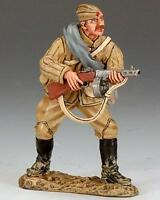 King & Country Ra018 Red Army Soldier Firing From Waist- Retired - Mint In Box