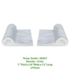 Ceramic Fiber Insulation Blanket Wool Thermal 2600f 8 1 X 24 X 12 2 Pieces