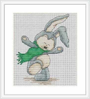 RABBIT AND BUTTERFLY Counted Cross Stitch Kit RTO