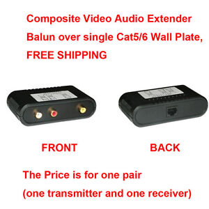 In-Wall White Passive Composite Video With Analog Audio Balun Pair