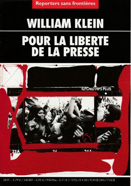 William Klein - Pour la liberté de la Presse - Reporters sans Frontières