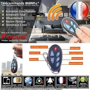 Protection Bouton Panique Transmission Codée PB-403R Centrale Alarme Connectée