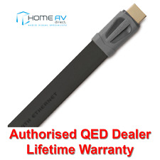 QED Performance EFLEX HDMI Lead - 4k 3D Thin Flat Slim - QE7504 - 5m Graphite