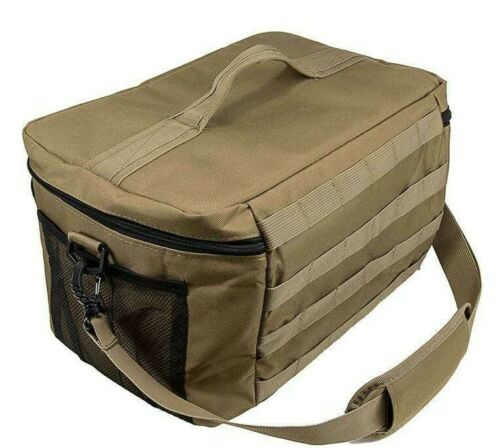 VISM Tactical Lunchbox Cooler MED w// MOLLE Lunch Bag Insulated Ice Chest TAN~
