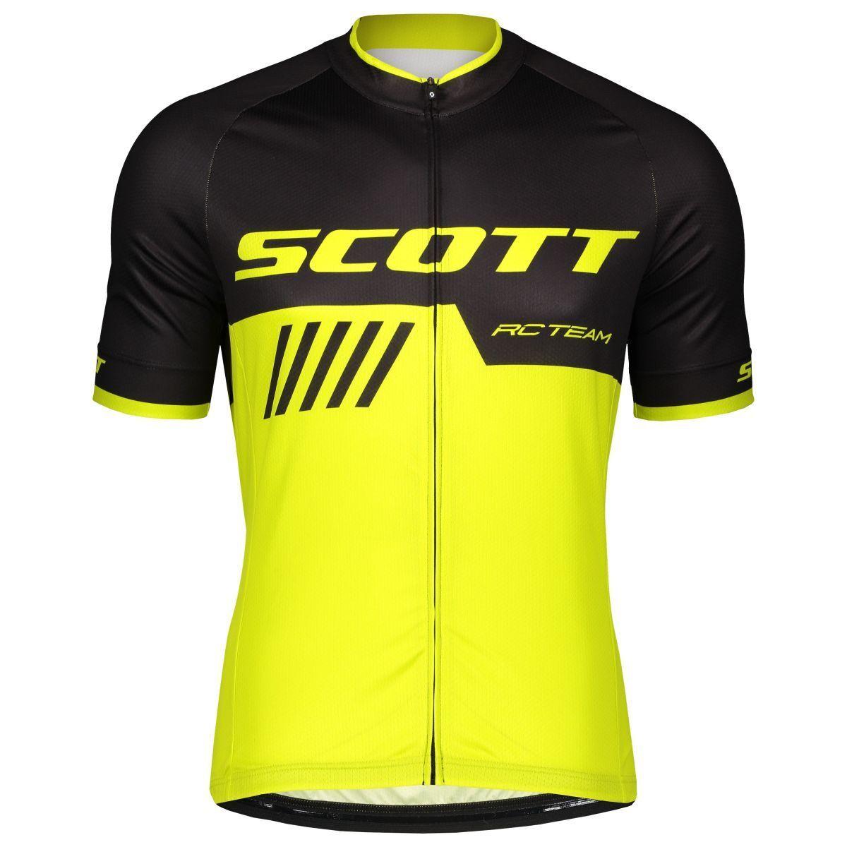 Scott RC RC Scott Team 10 Fahrrad Trikot kurz gelb/schwarz 2019 0e9688