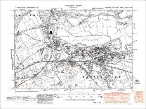 old map Yorkshire 1938 235SW repro Knottingley Ferrybridge