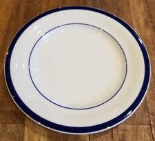 "POTTERY BARN BISTRO BLUE STRIPE on WHITE 9 1//2/"" Coupe Soup Pasta bowl Japan"