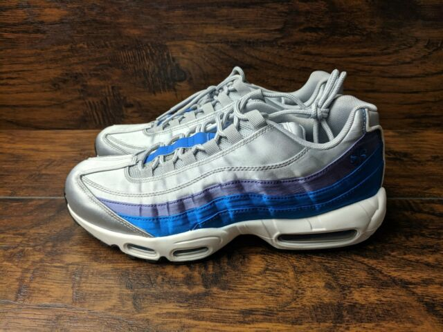Nike Air Max 95 Essential Men's Size 9 Wolf Grey Blue Nebula AJ2018 001 Training