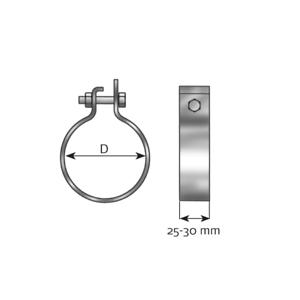 Klemmstück Abgasanlage - Dinex 99763