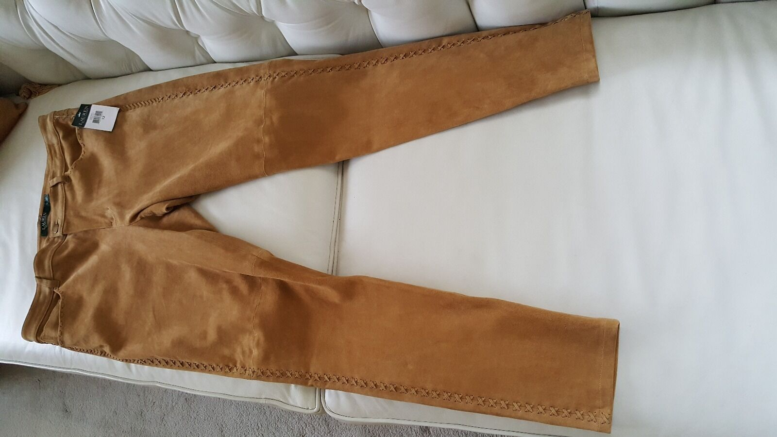 Ralph Lauren  Whipped Stitched Suede Skinny Pants - New with tag -  998