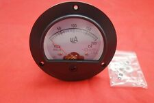 Dc 0 200ua Round Analog Ammeter Panel Amp Current Meter Dia 90mm Direct Connect