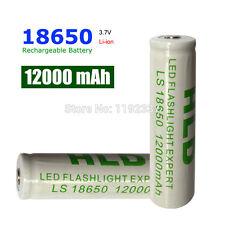 2 PEZZI Batteria Pila Ricaricabile 18650 GTF 12000 mAh 3,7V litio