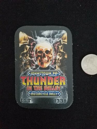 ALL LEATHER Thunder In The Valley MOTORCYCLE RALLY Johnstown PA sew on PATCH