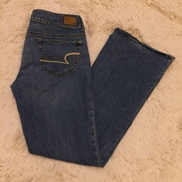 Women's AMERICAN EAGLE Artist Stretch Denim 2011 Low Rise Blue Jeans - 6 Short