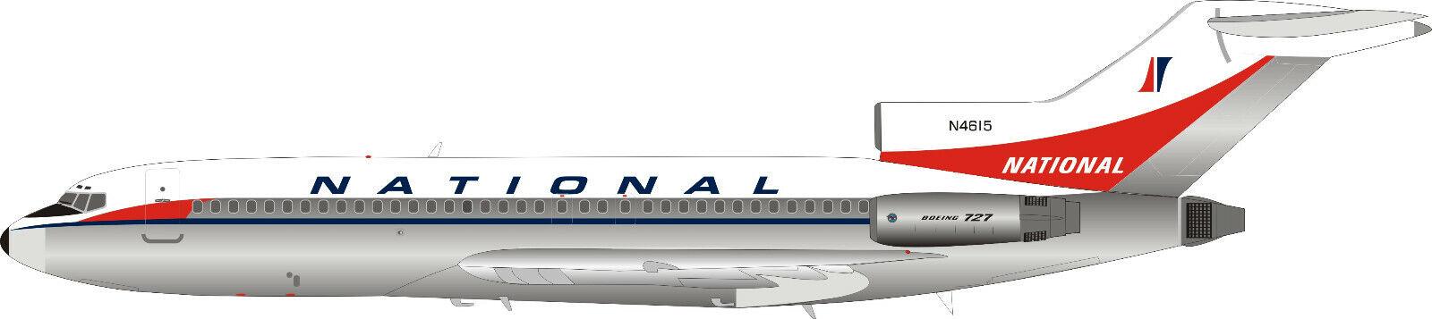 Inflight 200 IF721NA0119P 1 200 aerolíneas nacionales Pulido 727-100 N4615 con Soporte