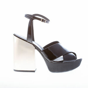 0defc54cffb HOGAN women shoes Black patent leather ankle strap sandal with cross ...