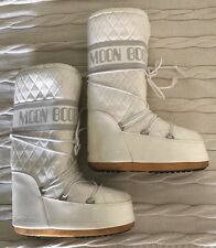 Tecnica White Vinyl Quilted Moon Boot Women's
