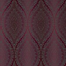 Grandeco Wallpaper - Luxury Kismet Damask / Glittered - Metallic Plum - A17705