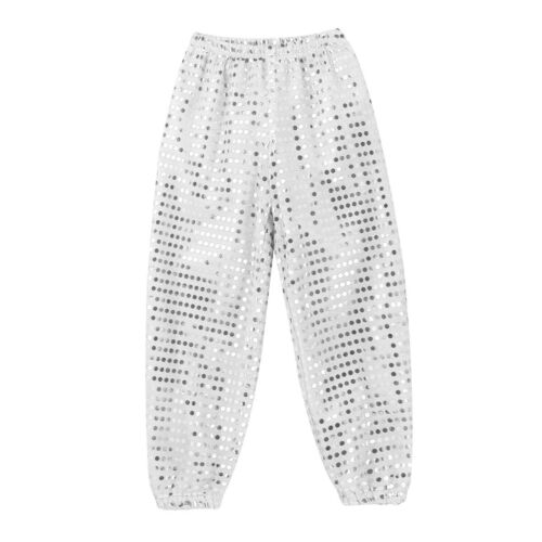 Kids Jazz Hip Hop Dance wear Costume Sequins Outfit Top+Pants Modern Dancewear