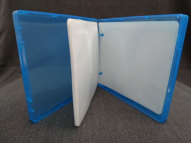 CD / DVD / BLU RAY CASE BLUE - HOLDS 12 - MAILER OR TRAVELLING- QUANTITY 1 ONLY