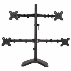 4-LCD-Tilt-Monitor-Mount-Desk-TV-Bracket-Stand-Adjustable-Arms-Swiel-up-to-27-034