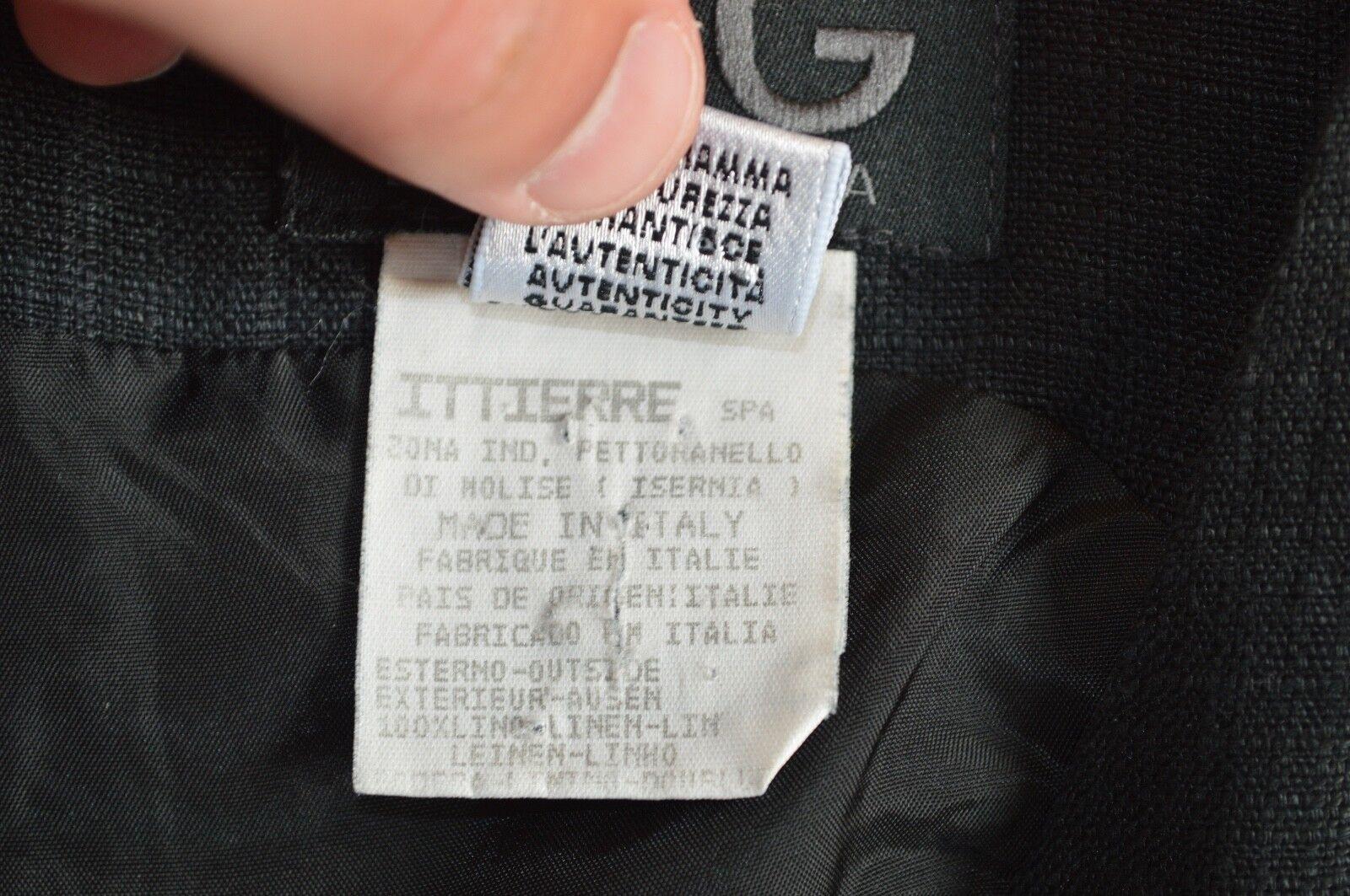 Dolce & Gabbana Gabbana Gabbana schwarz Linen Back Zip Dress damen ITA 40   UK 8   US 2-4 3a3d30