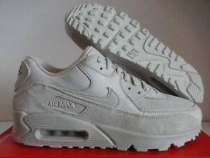 competitive price 2bd36 ab910 Image is loading NIKE-AIR-MAX-90-PREMIUM-LIGHT-BONE-STRING-